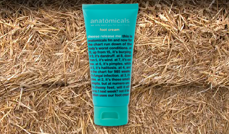 Anatomicals Cheese Release Me Foot Cream