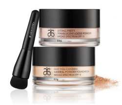 Arbonne Mineral Powder Brush with Foundation and Setting Powders